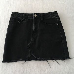 NWOT Zara Black Denim Mini Skirt